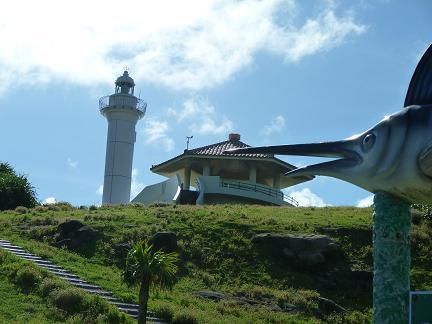 カジキと灯台.JPG
